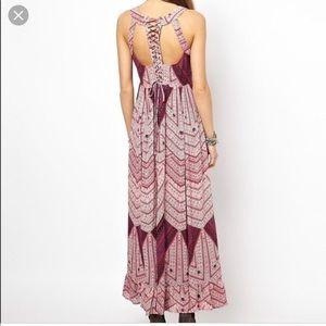 Free People | lace back maxi dress